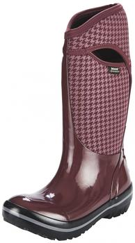 Bogs Plimsoll Houndstooth Tall Rain Boots Women eggplant multi