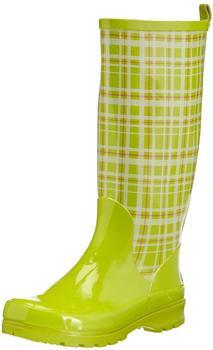 Playshoes Damen-Gummistiefel Karo (190107) grün