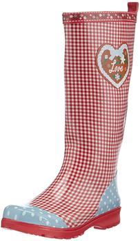 Playshoes Damen-Gummistiefel Landhaus (190108) rot