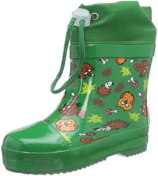 Playshoes Gummistiefel Waldtiere gefüttert (180390) grün