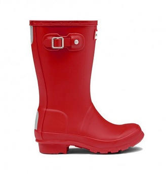 Hunter Original Kids Wellington Boots military red
