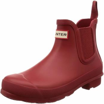 Hunter Womens Original Chelsea Boots military red
