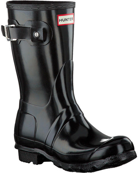 Hunter Women's Original Short Gloss Wellington Boots black