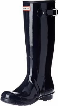 Hunter Womens Original Tall Gloss Wellington Boots navy