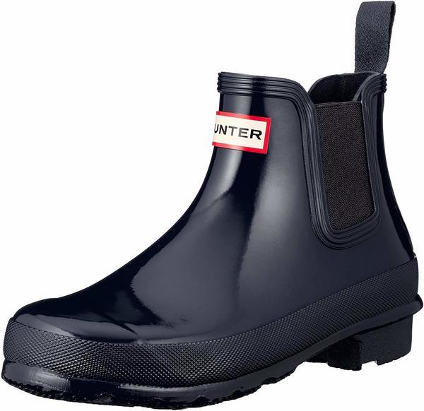 Hunter Womens Original Gloss Chelsea Boots navy
