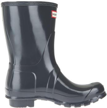 Hunter Women's Original Short Gloss Wellington Boots dark slate