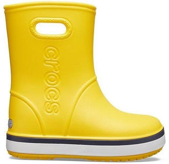 Crocs Kids Crocband Rain Boot yellow/navy