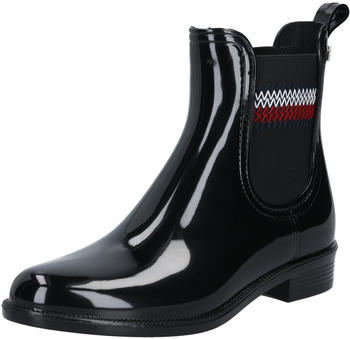 Tommy Hilfiger Signature Elastic Ankle Rain Boots (FW0FW05359) black