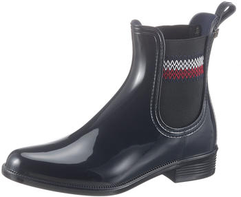 Tommy Hilfiger Signature Elastic Ankle Rain Boots (FW0FW05359) blue