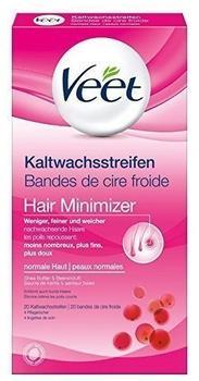 Veet Kaltwachsstreifen (20 St.) + 4 Pflegetücher normale Haut