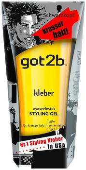 Got2B Kleber Wasserfestes Styling Gel 6 x 150 ml