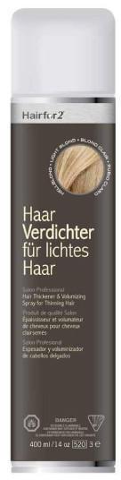 Hairfor2 HaarVerdichter für lichtes Haar - Hellblond (400ml)