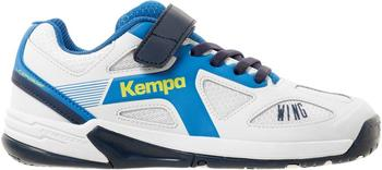 Kempa Wing Junior white/fair blue/navy