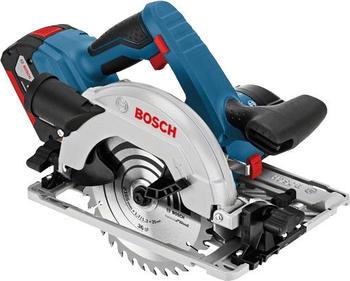 Bosch GKS 18V-57 G Professional (2 x 5,0 Ah in L-Boxx + Führungsschiene)