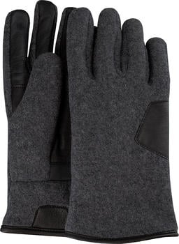 UGG Fabric and Leather Glove charcoal (17431)