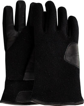 UGG Fabric and Leather Glove black (17431)