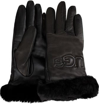 UGG Classic Leather Logo black (17440)