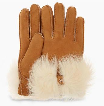 UGG Long Pile Bow Glove chestnut (17372)