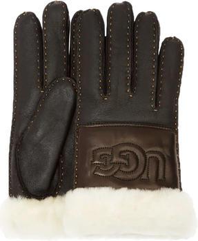 UGG Sheepskin Logo black leather (17374)