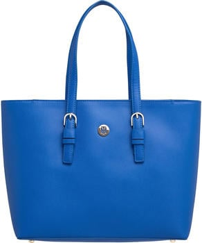Tommy Hilfiger TH Classic Monogram Tote (AW0AW07668) cobalt
