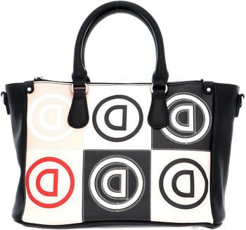 Desigual Logo Patch Safi Hand Bag beige