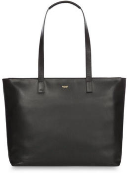 Knomo Maddox Leather Laptop Tote Bag black