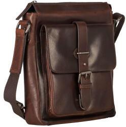 Georg A. Steinmann Lederwarenfabrik GmbH & Co. KG Leonhard Heyden Roma Zipped Messenger Bag S Brown