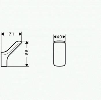 Axor Urquiola Einzelhaken (42401)