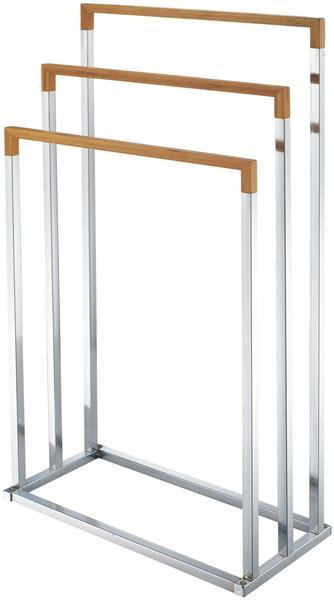 Zeller Handtuchständer Bamboo/Chrom (18611)
