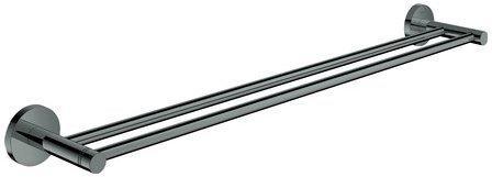 GROHE Essentials Doppel-Badetuchhalter hard graphite (40802A01)