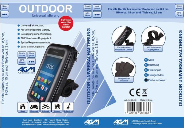 AGM 26436 Fahrrad-Handyhalterung Universal