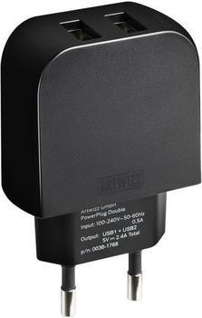 Artwizz PowerPlug Double schwarz