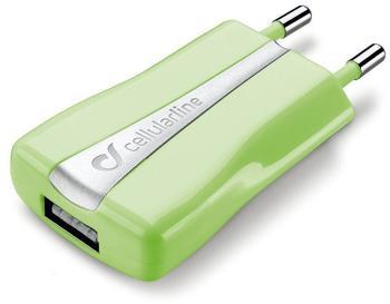 Cellular Line Mini-USB-Ladegerät 1A grün