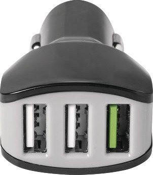 Celly 3xUSB Turbo Car Charger 2,4A schwarz