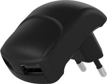 Goobay Dual USB Ladegerät 2,4A schwarz