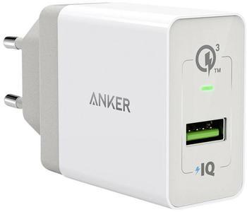 Anker PowerPort+ 1 18W QC 3.0 weiß