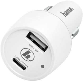 Hama Kfz-Ladegerät USB-A + USB-C 42W weiß