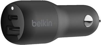 Belkin BOOST CHARGE 30-W-USB-C- + USB-A-Kfz-Ladegerät