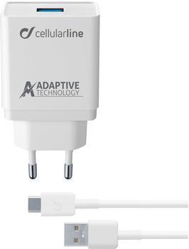 Cellular Line Adaptive Fast Charger USB Typ-C Kit 15 Watt