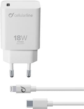 Cellular Line 60758 USB-C Charger Kit 18W + Lightning Cable