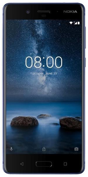 Nokia 8 hochglanzblau
