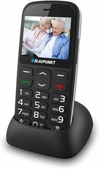 Blaupunkt BS02 Senioren-Handy mit Ladestation, SOS Taste Schwarz