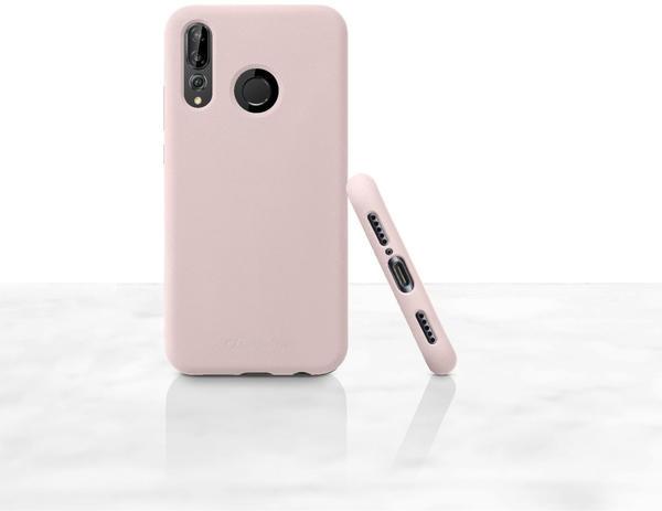 Cellular Line Case mit soft touch Oberfläche für Huawei P30 Lite, rosa Handyhülle