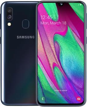 """Samsung Galaxy A40 64GB Dual-SIM Schwarz EU [14,92cm (5.9"""") OLED Display, Android 9.0, 16+5MP Dual-Hauptkamera]"""