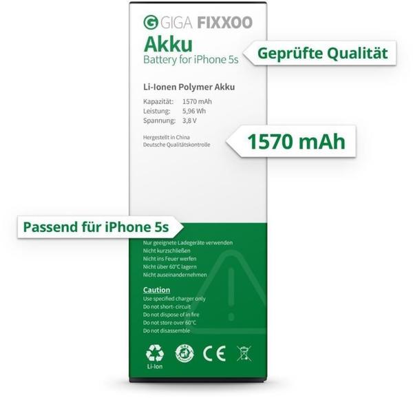Giga Fixxoo Akku ohne Werkzeug (iPhone 5s)