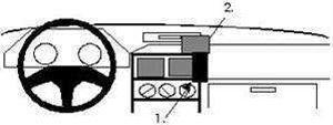 Brodit ProClip Honda CRX Bj. 88-91