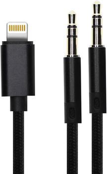 4smarts Cable Lightning / Jack to Jack 3.5mm black (1.2m)