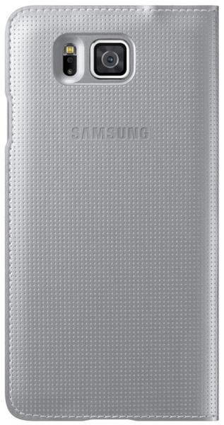 Samsung S-View Cover silber (Galaxy Alpha)