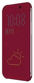 HTC Flip Case Dot View (One E8) violett
