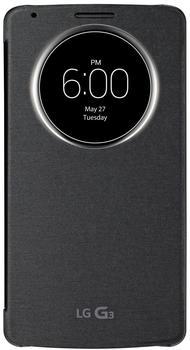 LG QuickCircle Case Schwarz (LG G3)